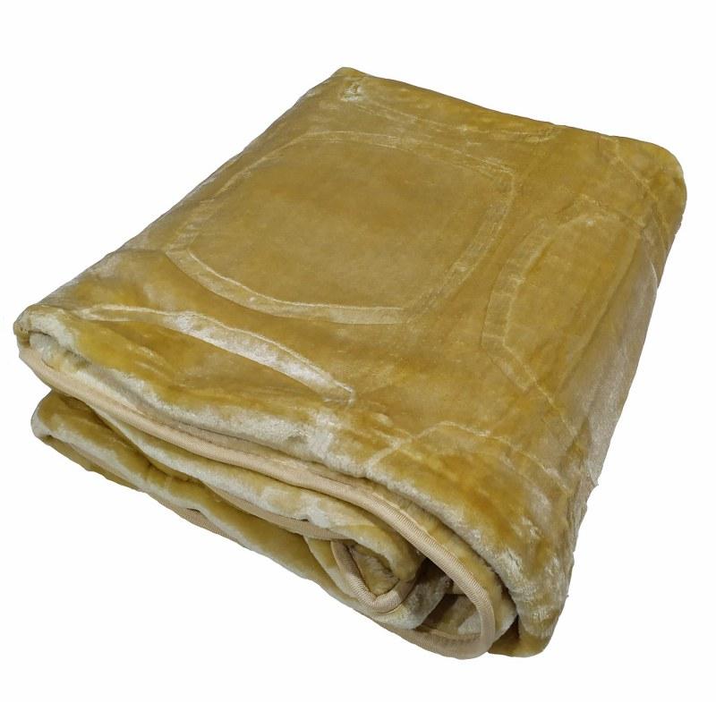 Κουβέρτα Υπέρδιπλη Βελουτέ 600gsm 220×240εκ. Beige – KOMVOS HOME – 7006207-7