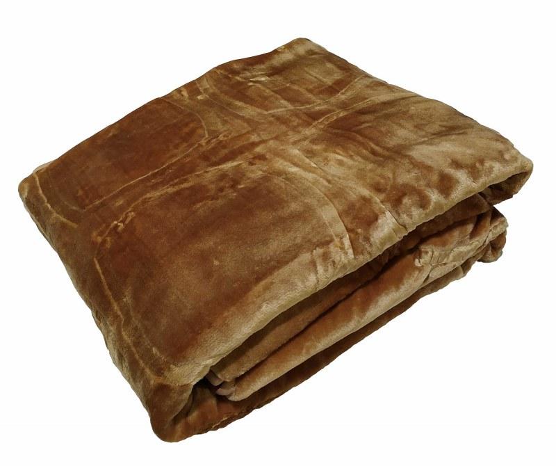 Κουβέρτα Υπέρδιπλη Βελουτέ 600gsm 220×240εκ. Camel – KOMVOS HOME – 7006207-8