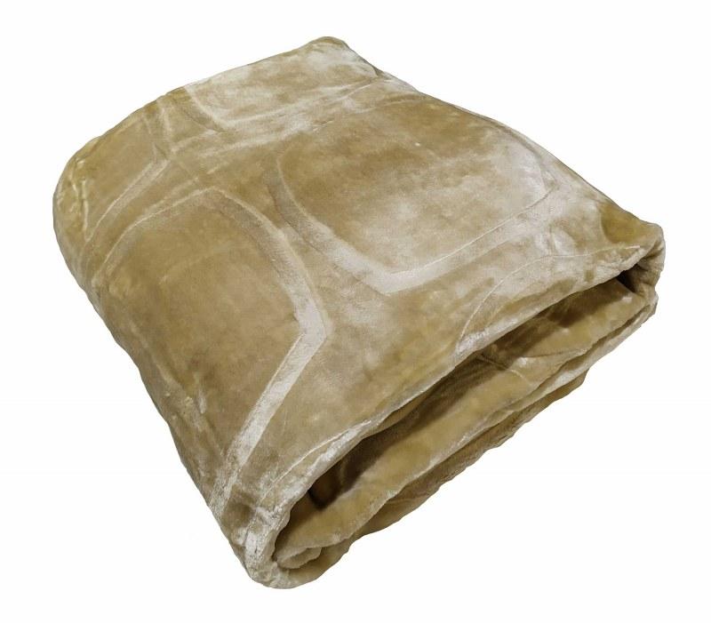 Κουβέρτα Υπέρδιπλη Βελουτέ 600gsm 220×240εκ. Cream – KOMVOS HOME – 7006207-9
