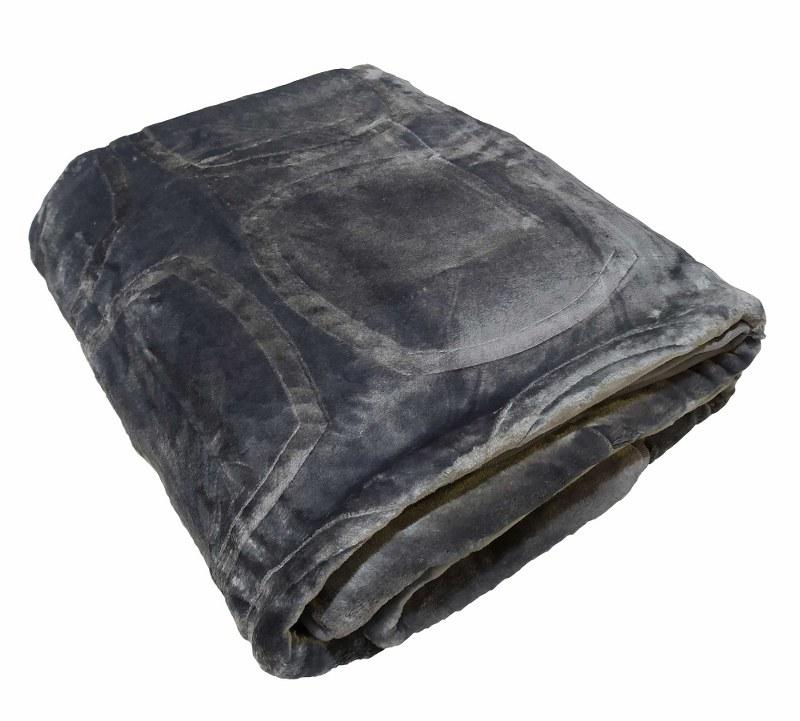 Κουβέρτα Υπέρδιπλη Βελουτέ 600gsm 220×240εκ. Grey – KOMVOS HOME – 7006207-10