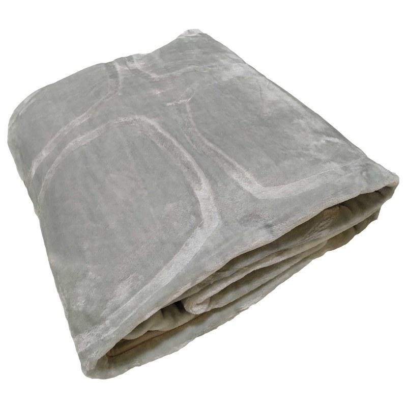 Κουβέρτα Υπέρδιπλη Βελουτέ 600gsm 220×240εκ. Light Grey – KOMVOS HOME – 7006207-11
