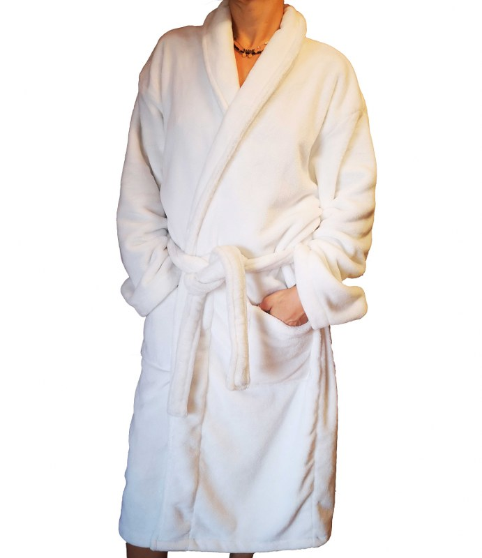 Ρόμπα Fleece Τύπου Smokin White Extra Large – OEM – robe-fleece-2