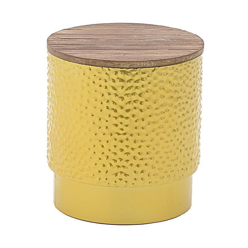 Σκαμπώ Μεταλλικό – Ξύλινο 39x39x47εκ. inart 3-50-479-0075 (Υλικό: Ξύλο, Χρώμα: Καφέ) – inart – 3-50-479-0075