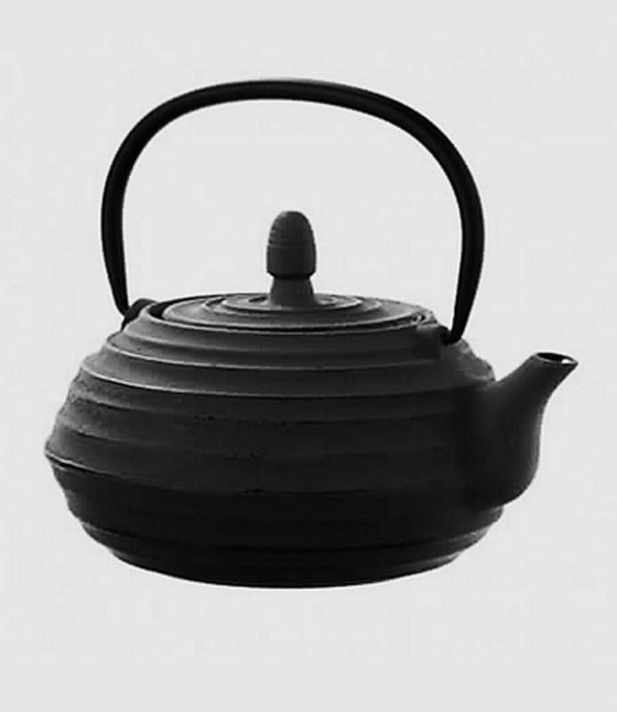 Τσαγιέρα Μαντεμένια 400ml Dinox 403122 (Υλικό: Μαντέμι, Χρώμα: Μαύρο) – Dinox – 8-403122-black