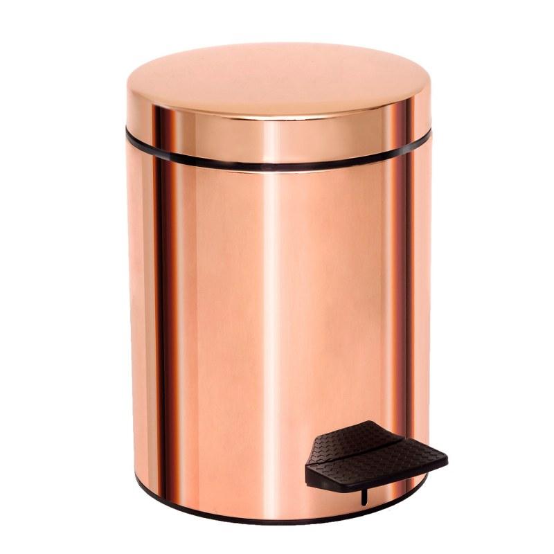 Καλάθι Απορριμμάτων 5lt Ορειχάλκινο Pam & Co 20x28εκ. 05-096-022 (Χρώμα: Ροζ, Υλικό: Ορείχαλκος) - Pam & Co - 05-096-022
