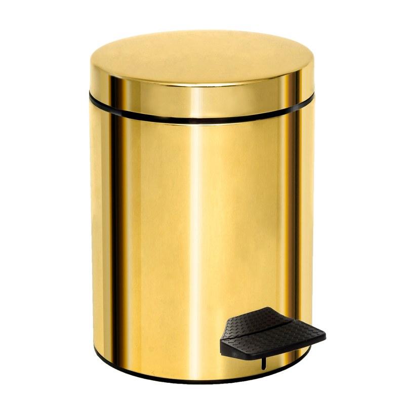 Καλάθι Απορριμμάτων 5lt Ορειχάλκινο Pam & Co 20x28εκ. 05-200-024 (Χρώμα: Χρυσό , Υλικό: Ορείχαλκος) - Pam & Co - 05-200-024