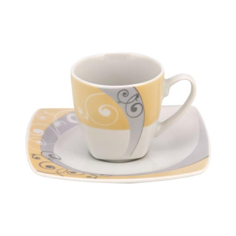 Σετ 6τμχ Φλυτζάνια Καφέ Πορσελάνης Celebration WM Collection 100ml N210002/4857 (Υλικό: Πορσελάνη) - WM COLLECTION - N210002/4857-coffee