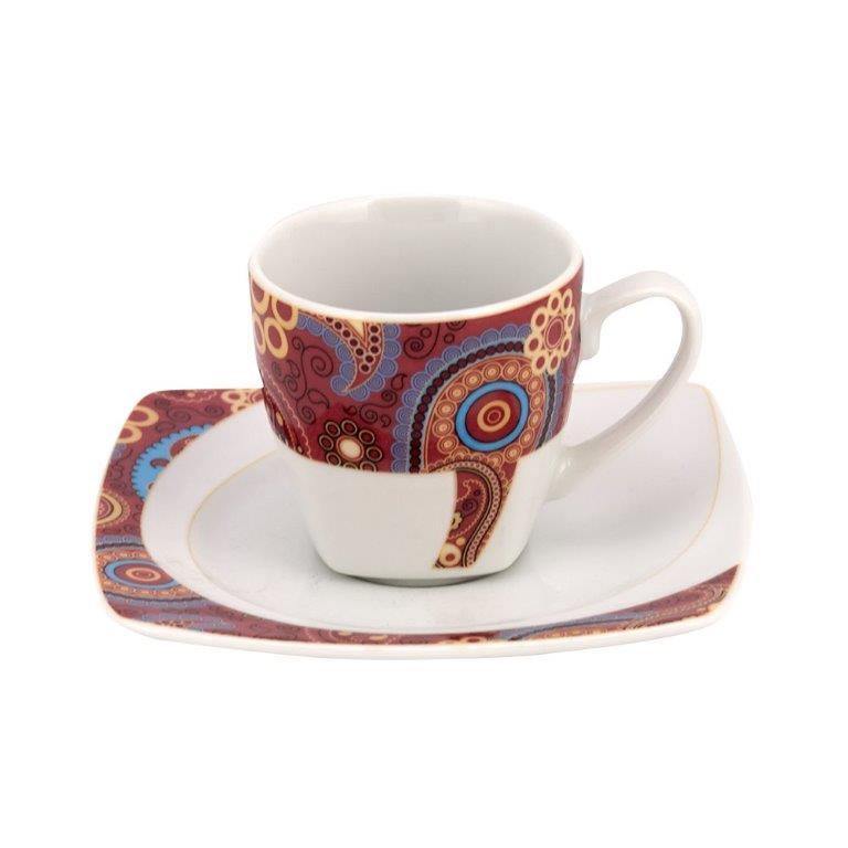 Σετ 6τμχ Φλυτζάνια Καφέ Πορσελάνης Celebration WM Collection 100ml N9187/5108 (Υλικό: Πορσελάνη) - WM COLLECTION - N9187/5108-coffee