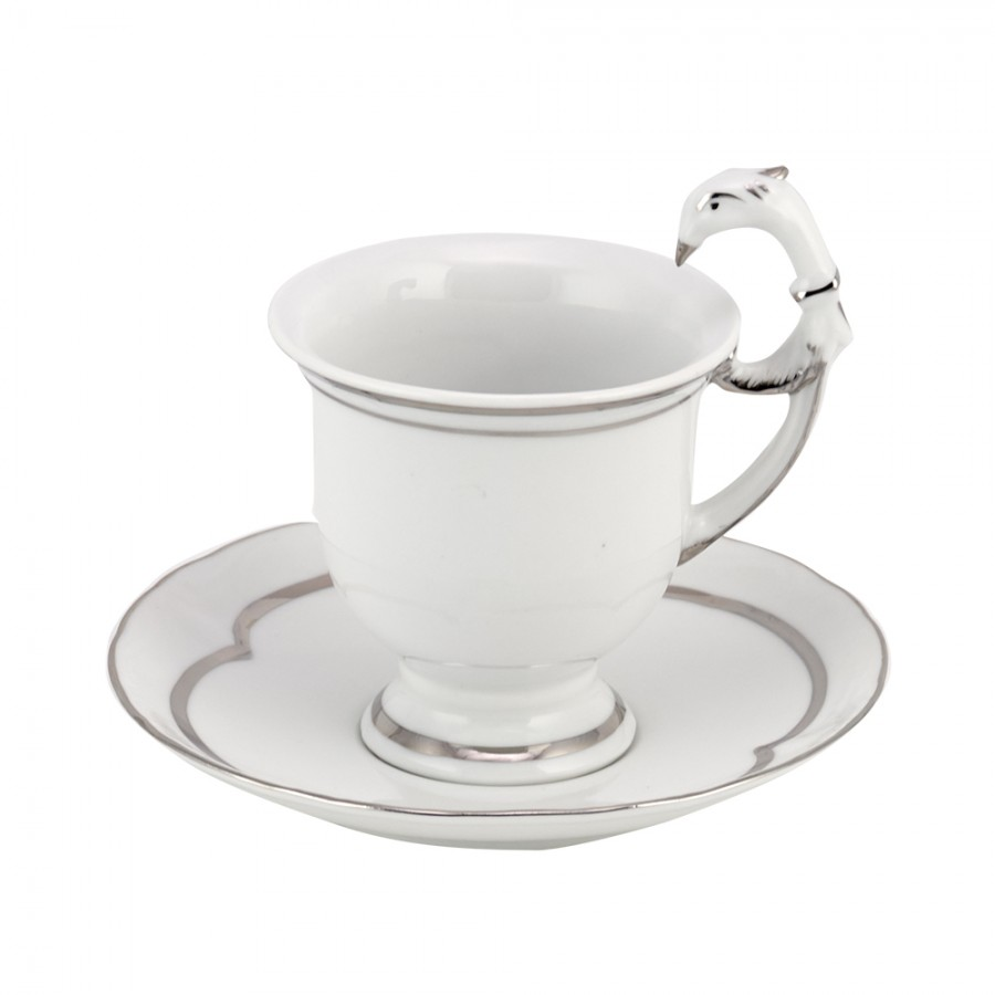 Σετ 6τμχ Φλυτζάνια Τσαγιού Πορσελάνης WM Collection 220ml 738 (Υλικό: Πορσελάνη) - WM COLLECTION - 738-platin-tea