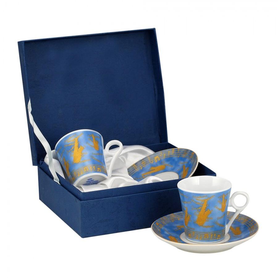 Σετ 2τμχ Φλυτζάνια Καφέ Πορσελάνης WM Collection 75ml Ν947/2Μ (Υλικό: Πορσελάνη) - WM COLLECTION - Ν947/2Μ-coffee-box-75ml