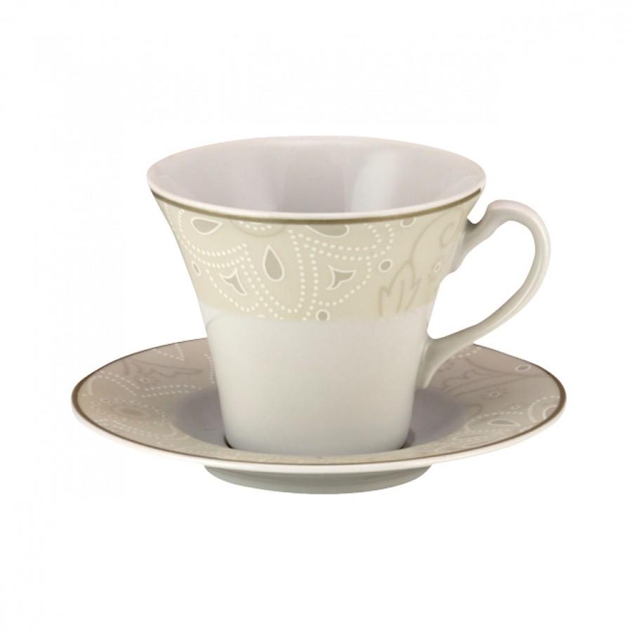 Σετ 6τμχ Φλυτζάνια Καφέ Πορσελάνης WM Collection 100ml Ν2007 (Υλικό: Πορσελάνη) - WM COLLECTION - Ν2007-coffee