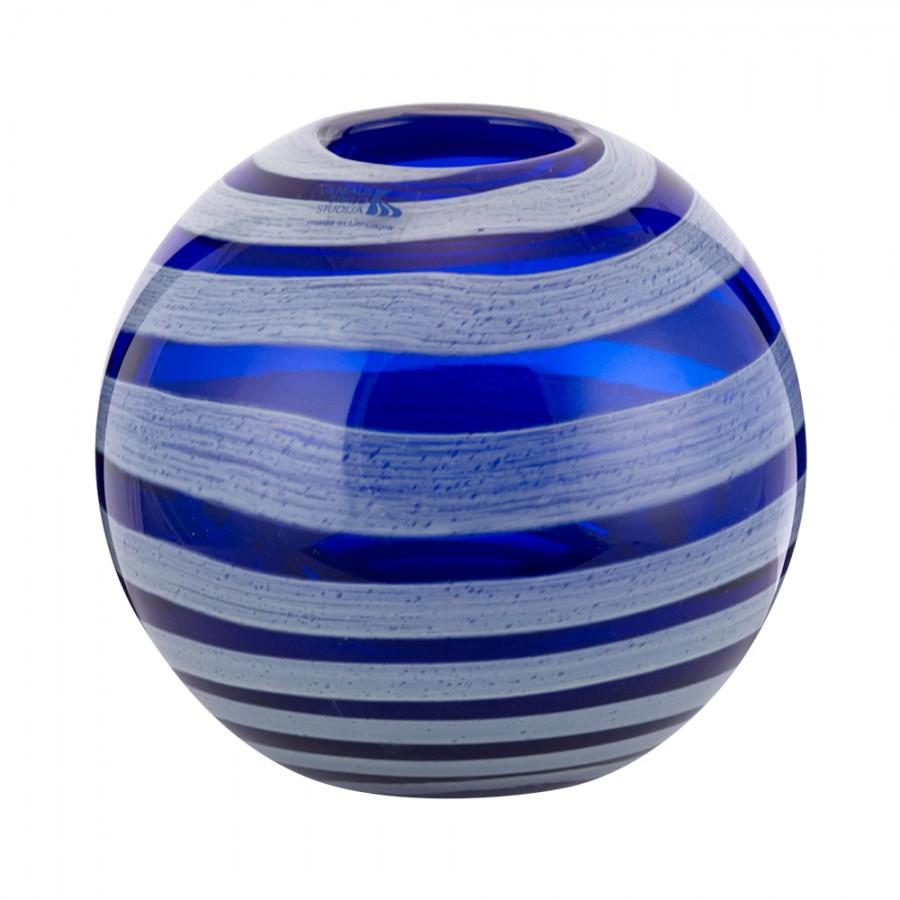 Βάζο Φυσητό Γυαλί WM Collection 17x17εκ.N268/49-2 (Υλικό: Γυαλί, Χρώμα: Λευκό) - WM COLLECTION - N268/49-2