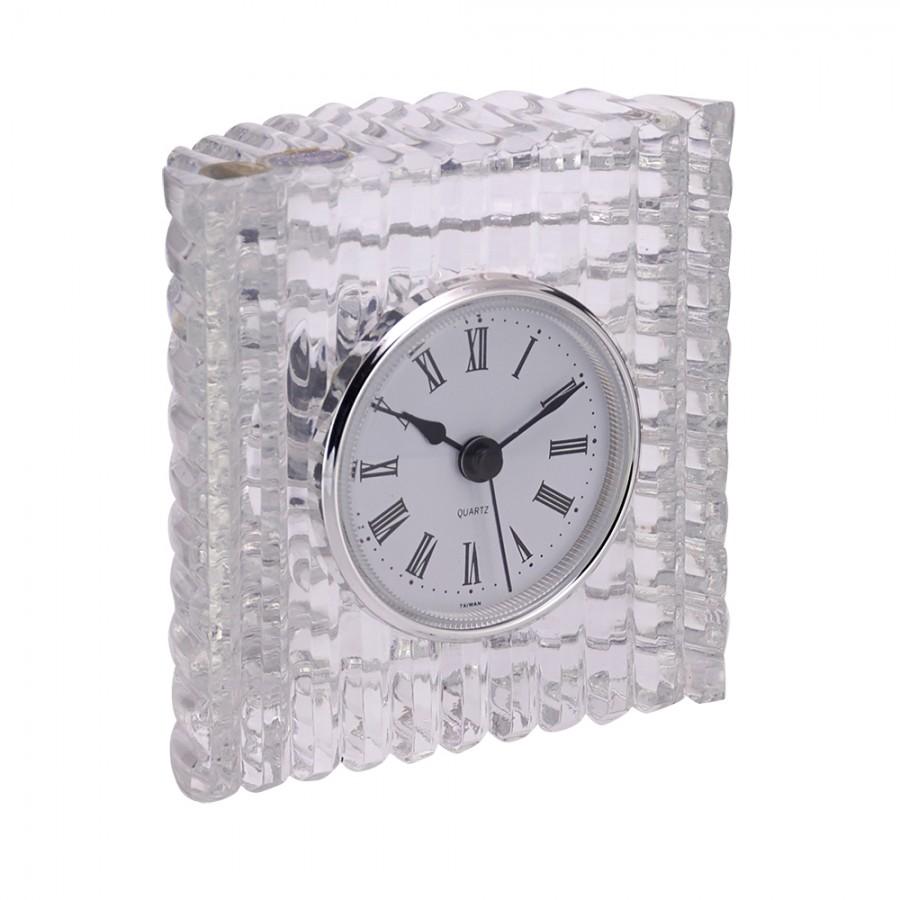 Ρολόι Επιτραπέζιο Κρυστάλλινο WM Collection 10x10εκ. N79600 (Υλικό: Κρύσταλλο, Χρώμα: Διάφανο ) - WM COLLECTION - N79600