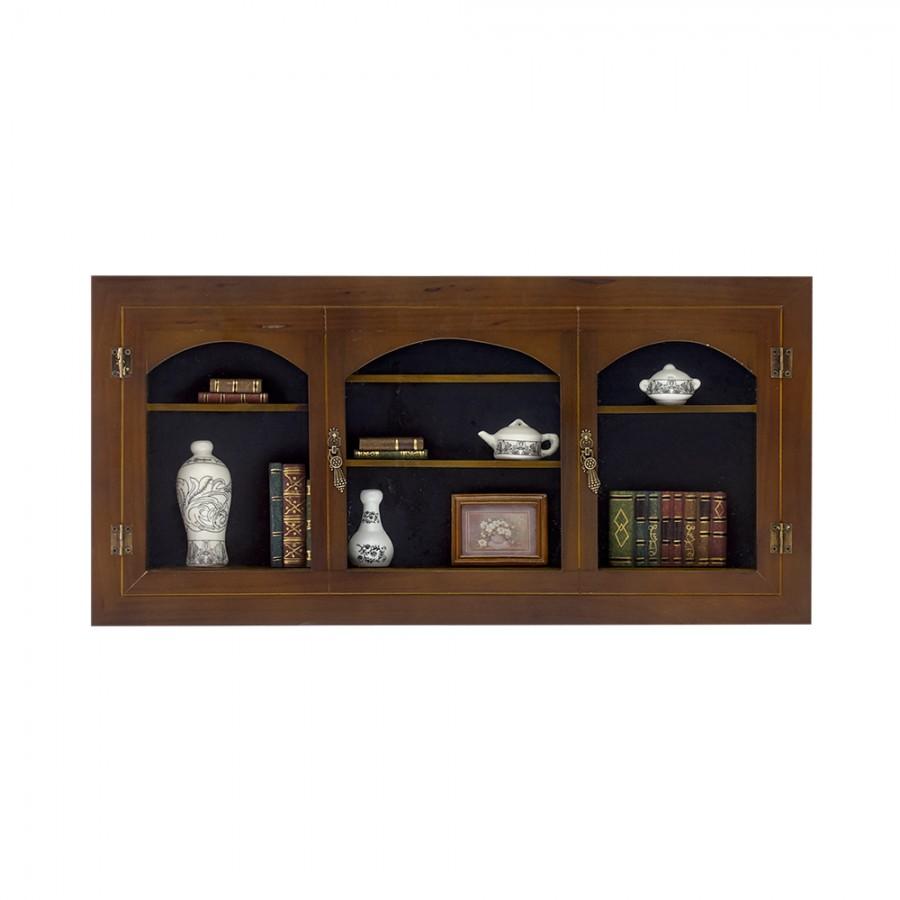 Κάδρο Ξύλινο Με Μινιατούρες Πορσελάνης WM Collection 59x5x28εκ. N30524 (Υλικό: Ξύλο) - WM COLLECTION - N30524