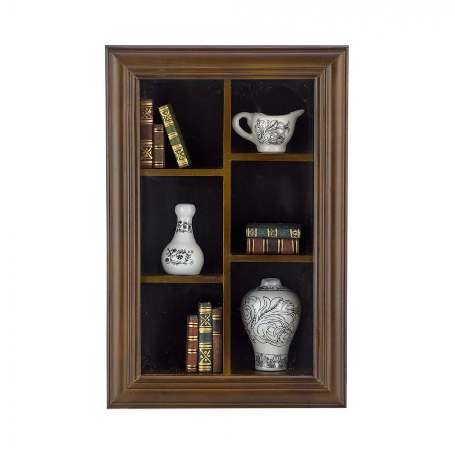 Κάδρο Ξύλινο Με Μινιατούρες Πορσελάνης WM Collection 21x5x32εκ. Ν30528 (Υλικό: Ξύλο) – WM COLLECTION – Ν30528