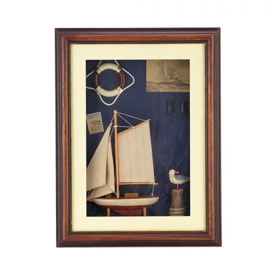 Κάδρο Ξύλινο Με Χειροποίητη Παράσταση WM Collection 31x5x41εκ. NF24131/G (Υλικό: Ξύλο) – WM COLLECTION – NF24131/G