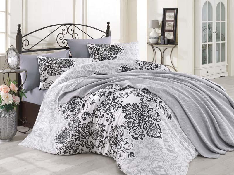Κουβερλί Μονό 160x240εκ. Palermo Grey (Ύφασμα: 50%Cotton-50%Polyester, Χρώμα: Γκρι) - KOMVOS HOME - 7007978-31