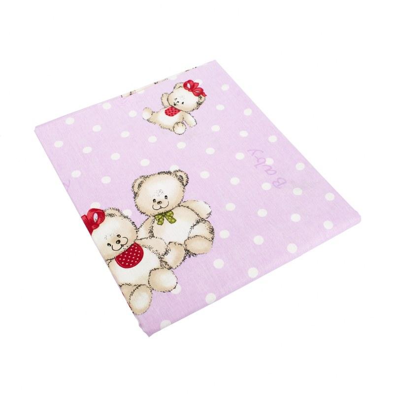 Πάνα Χασές Μπεμπέ 80×80εκ. Two Lovely Bears 65 Lilac Dimcol (Ύφασμα: Βαμβάκι 100%, Χρώμα: Λιλά) – DimCol – 1914513606906574