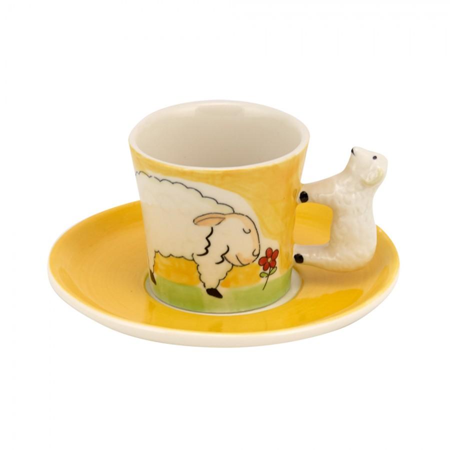 Σετ 6τμχ Φλυτζάνια Καφέ Κεραμικά WM Collection 125ml N399 (Υλικό: Κεραμικό) - WM COLLECTION - N399