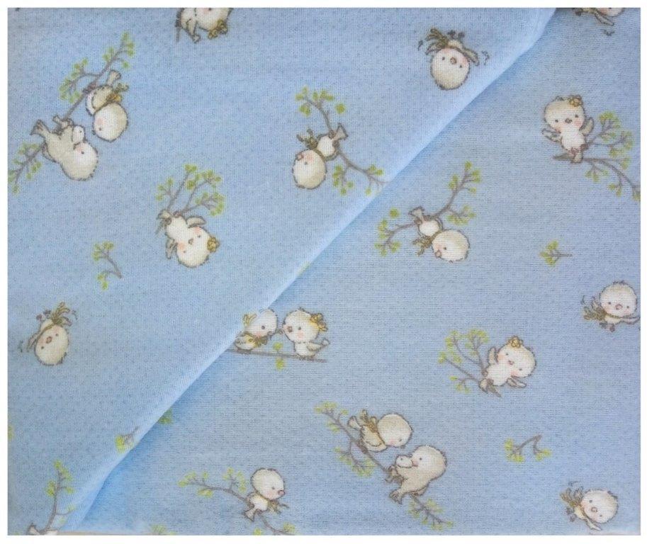 Παπλωματοθήκη Μονή Φανελένια 160×240εκ. Birds 14 Sky Blue Dimcol (Ύφασμα: Φανέλα, Χρώμα: Μπλε) – DimCol – 1925755208601482