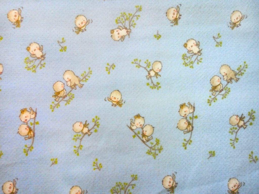Μαξιλαροθήκη Φανελένια 50×70εκ. Birds 14 Sky Blue Dimcol (Ύφασμα: Φανέλα, Χρώμα: Μπλε) – DimCol – 1925853108601482