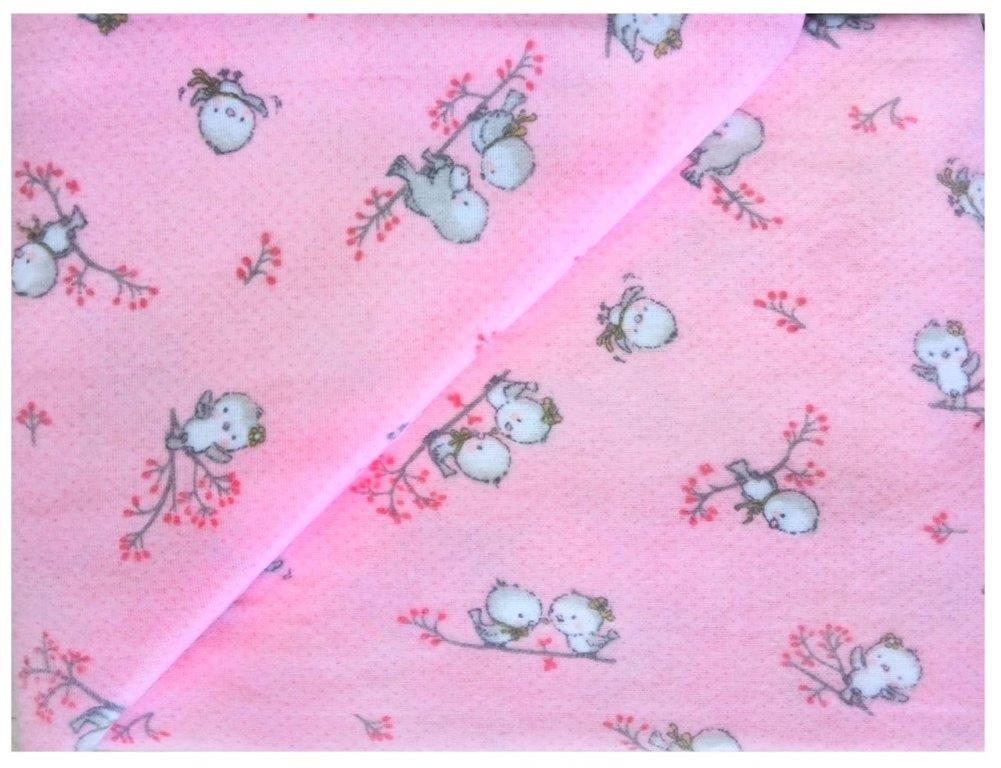 Παπλωματοθήκη Μονή Φανελένια 160×240εκ. Birds 15 Pink Dimcol (Ύφασμα: Φανέλα, Χρώμα: Ροζ) – DimCol – 1925755208601579