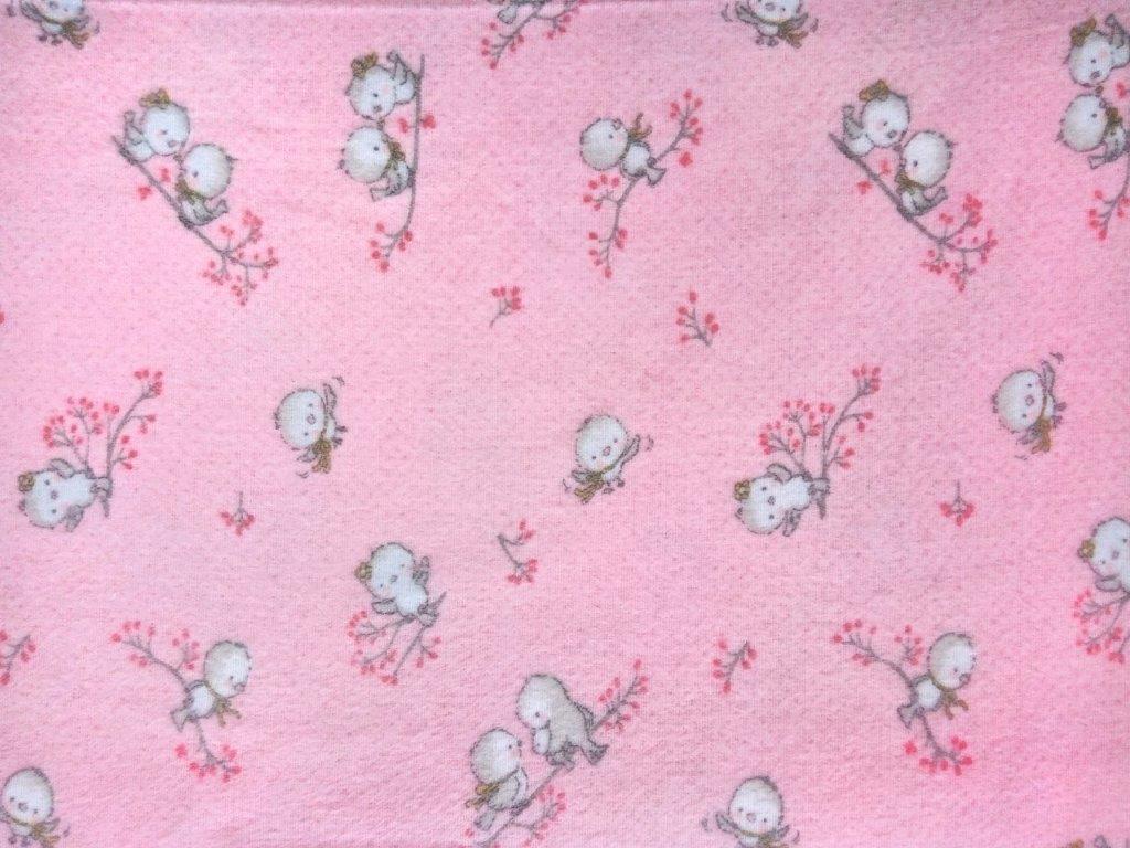 Μαξιλαροθήκη Φανελένια 50×70εκ. Birds 15 Pink Dimcol (Ύφασμα: Φανέλα, Χρώμα: Ροζ) – DimCol – 1925853108601579