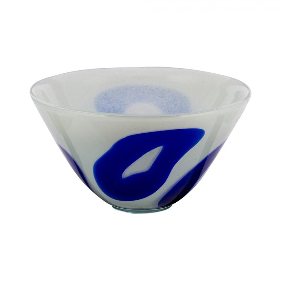 Φρουτιέρα Φυσητό Γυαλί WM Collection 18×17εκ. N737/277 (Υλικό: Γυαλί, Χρώμα: Λευκό) – WM COLLECTION – N737/277