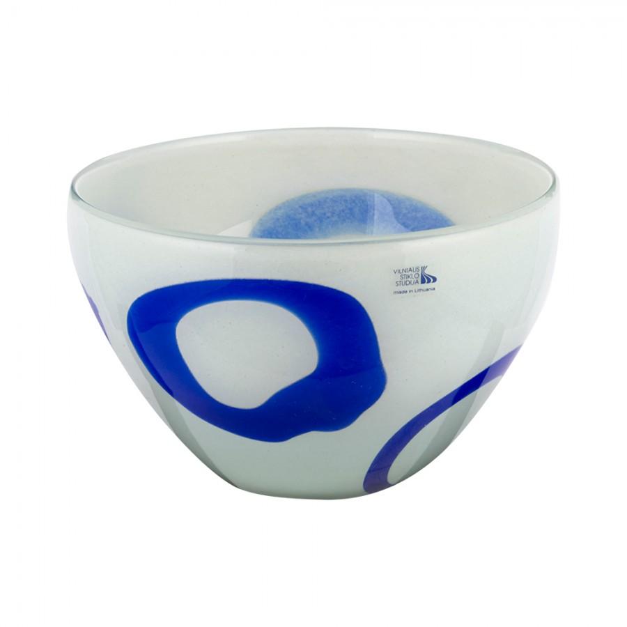 Φρουτιέρα Φυσητό Γυαλί WM Collection 22×16εκ. N622/277 (Υλικό: Γυαλί, Χρώμα: Λευκό) – WM COLLECTION – N622/277