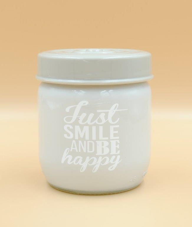 Δοχείο Κουζίνας Γυάλινο 425ml Just Smile Veltihome 21-14635 Grey (Υλικό: Γυαλί, Χρώμα: Λευκό) - VELTIHOME - 21-14635-grey