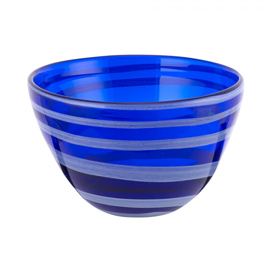 Φρουτιέρα Φυσητό Γυαλί WM Collection 22×16εκ. N622/49-2 (Υλικό: Γυαλί, Χρώμα: Λευκό) – WM COLLECTION – N622/49-2
