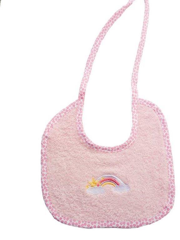 Σαλιάρα Βαμβακερή 19×24εκ. Unicorn 41 Dimcol (Ύφασμα: Βαμβάκι 100%, Χρώμα: Ροζ) – DimCol – 1213617406404126
