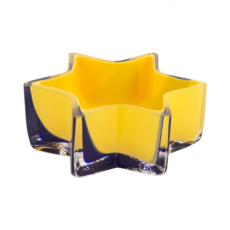Σταχτοδοχείο Φυσητό Γυαλί WM Collection 10×4εκ. N004/040/116 (Υλικό: Γυαλί, Χρώμα: Μπλε) – WM COLLECTION – N004/040/116
