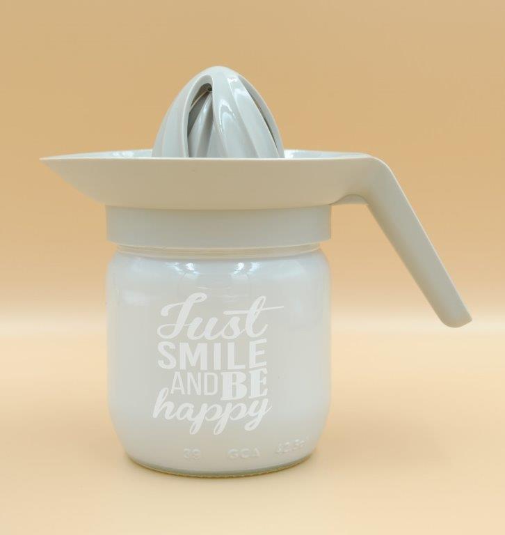 Λεμονοστίφτης Γυάλινος 425ml Just Smile Veltihome 21-13148 Grey (Υλικό: Γυαλί, Χρώμα: Λευκό) – VELTIHOME – 21-13148-grey