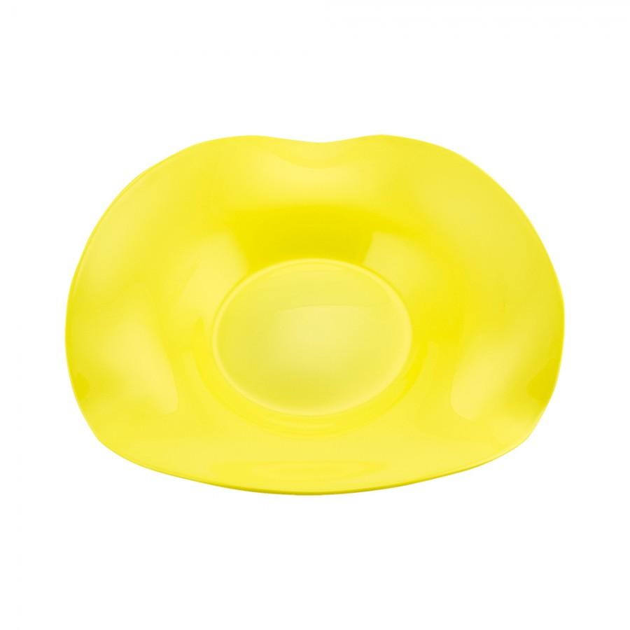 Διακοσμητική Πιατέλα Φυσητό Γυαλί WM Collection 31εκ. N14331 (Υλικό: Γυαλί, Χρώμα: Κίτρινο ) – WM COLLECTION – N14331