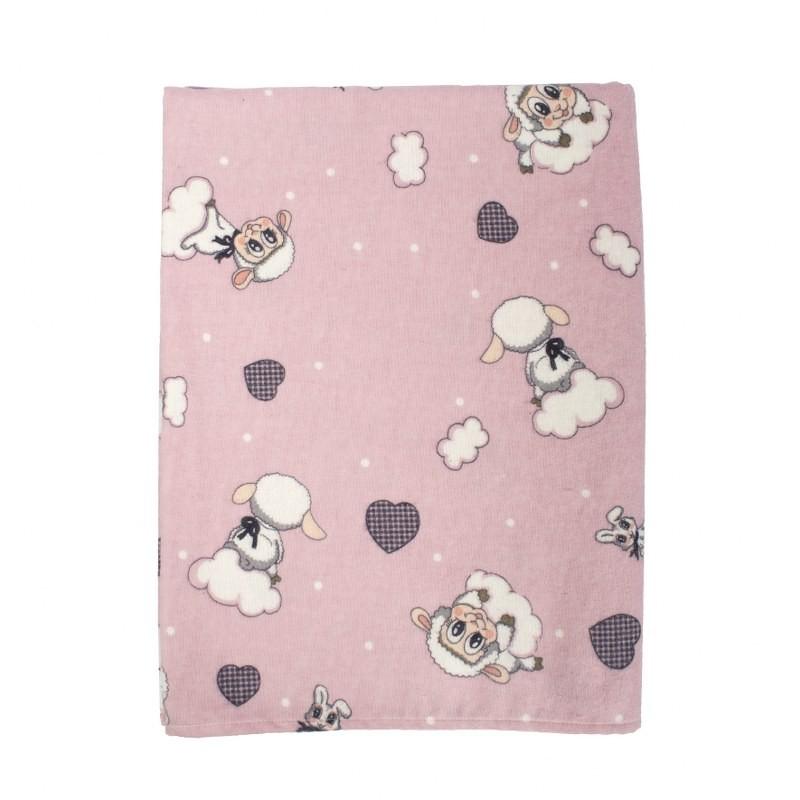 Παπλωματοθήκη Μονή Φανελένια 160×240εκ. Προβατάκι 05 Pink Dimcol (Ύφασμα: Φανέλα, Χρώμα: Ροζ) – DimCol – 1925755206600579