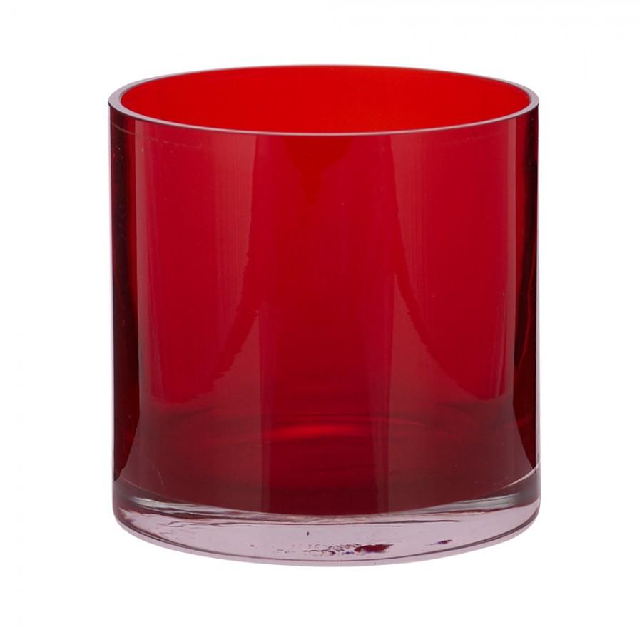Παγοδοχείο Γυάλινο WM Collection 12x13εκ. NRO (Υλικό: Γυαλί, Χρώμα: Κόκκινο) - WM COLLECTION - NRO-red