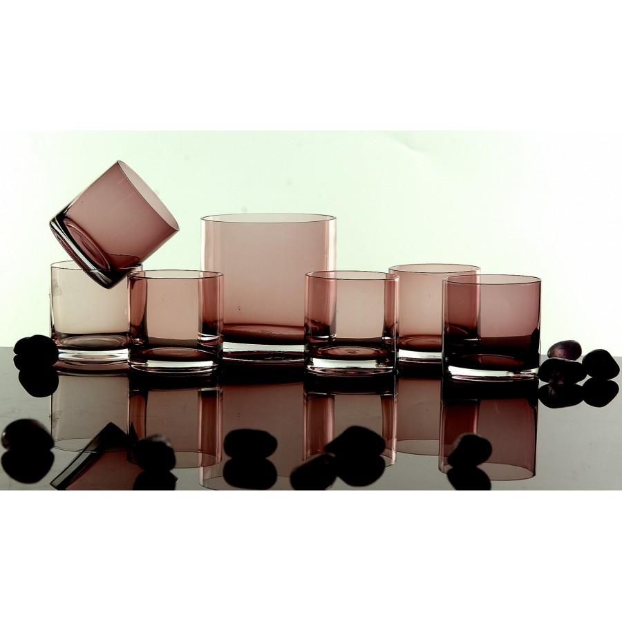 Σετ 7τμχ Ουίσκι Κρυσταλλίνη WM Collection 320ml N2853 (Χρώμα: Ροζ, Υλικό: Κρυσταλλίνη) – WM COLLECTION – N2853-pp