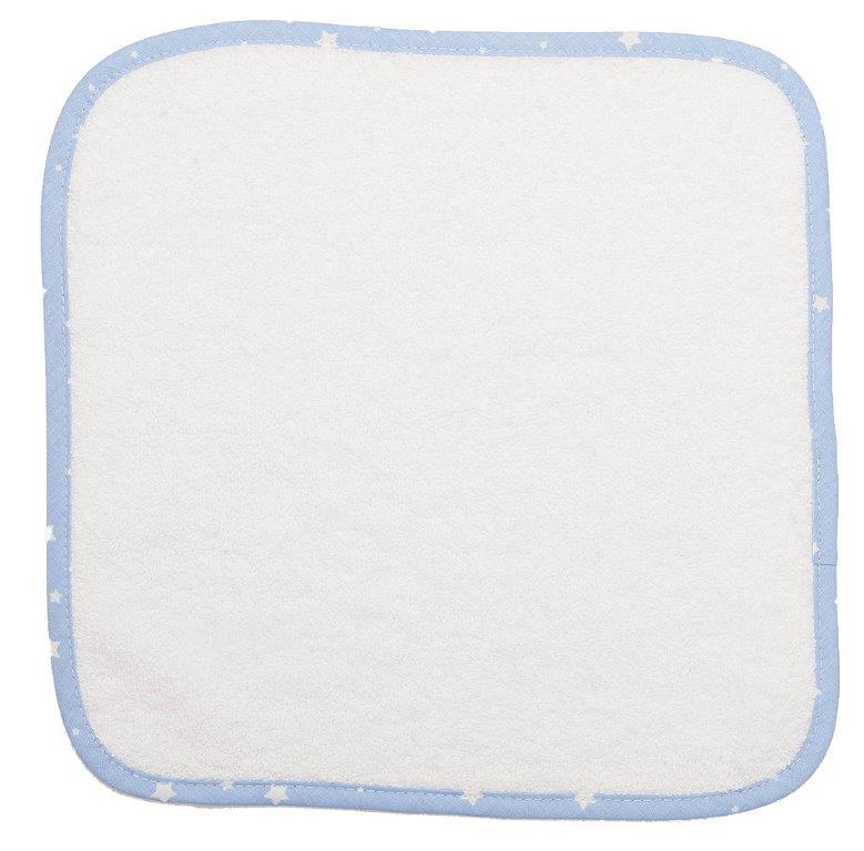 Λαβέτα 30×30εκ. 03 White-Ciel Dimcol (Ύφασμα: Βαμβάκι 100%, Χρώμα: Λευκό) – DimCol – 1213512400000320