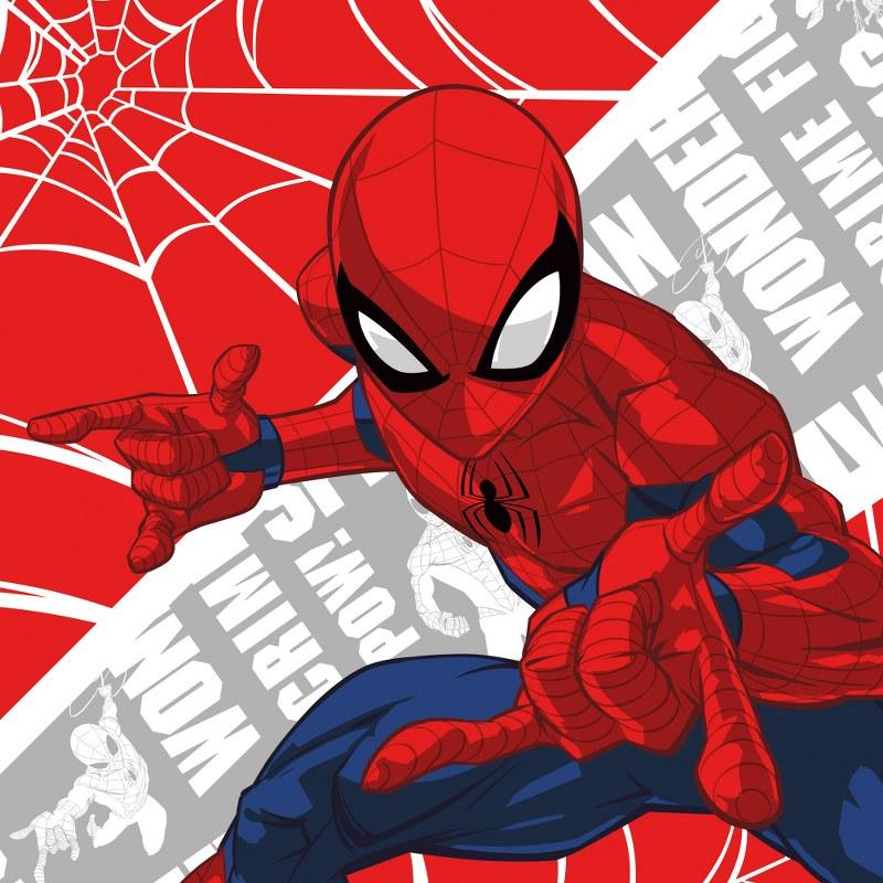 Λαβέτα-Μαγική Πετσέτα 30×30εκ. Digital Print Spiderman 01 Disney Dimcol (Ύφασμα: Βαμβάκι 100%) – Disney – 2120512405200199
