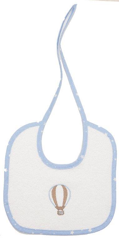 Σαλιάρα Βαμβακερή 19×24εκ. Αερόστατο 03 Dimcol (Ύφασμα: Βαμβάκι 100%, Χρώμα: Λευκό) – DimCol – 1213617402100320-m