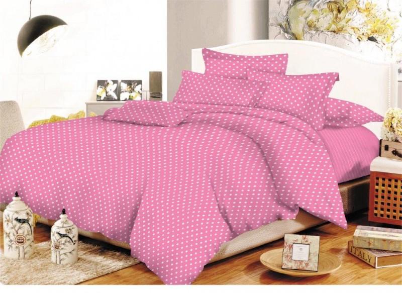 Κουβερλί Υπέρδιπλο 220×240εκ. 2 Όψεων Πουά-Ριγέ Pink – KOMVOS HOME – 7007992-4
