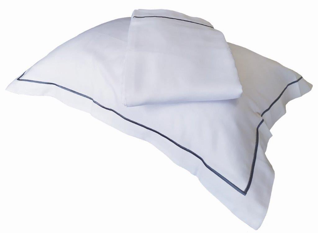 Μαξιλαροθήκη Oxford 55×75εκ. 100% Βαμβακοσατέν 310TC Με Ρίγα Satin Plain Line (Ύφασμα: Βαμβακοσατέν, Χρώμα: Λευκό) – OEM – 5201847010718