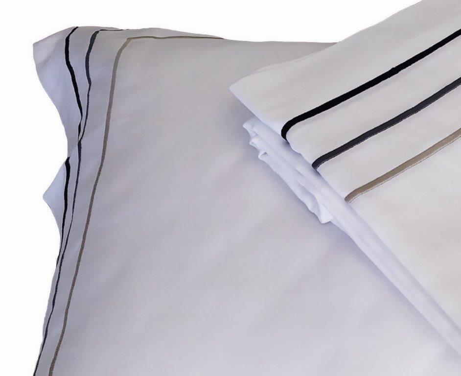 Παπλωματοθήκη 170×250εκ. 100% Βαμβακοσατέν 310TC Με Ρίγες Satin Plain Line (Ύφασμα: Βαμβακοσατέν, Χρώμα: Λευκό) – OEM – 5201847010664