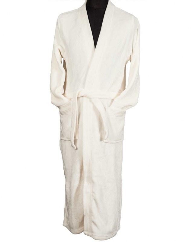 Ρόμπα Coral Fleece Με Γιακά White Large (Ύφασμα: Fleece, Χρώμα: Λευκό) – OEM – 5201847009880L