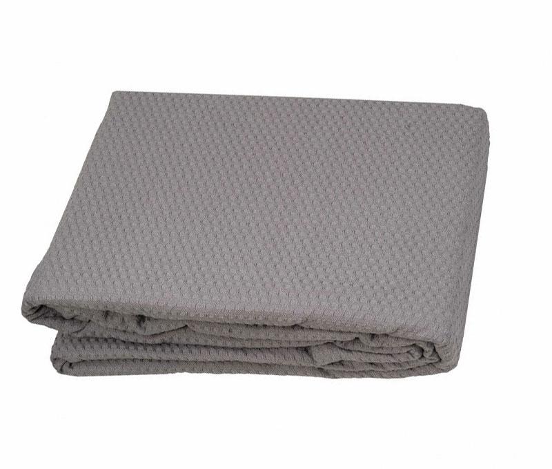 Κουβέρτα Πικέ 250x230εκ. Sanforized Grey (Ύφασμα: Βαμβάκι 100%, Χρώμα: Γκρι) - OEM - 5201847000820-5
