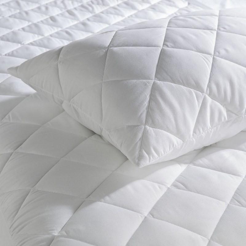 Ζεύγος Μαξιλαροθήκες Καπιτονέ Βαμβακερές 50×70εκ. Cotton Line – OEM – 5201847023008