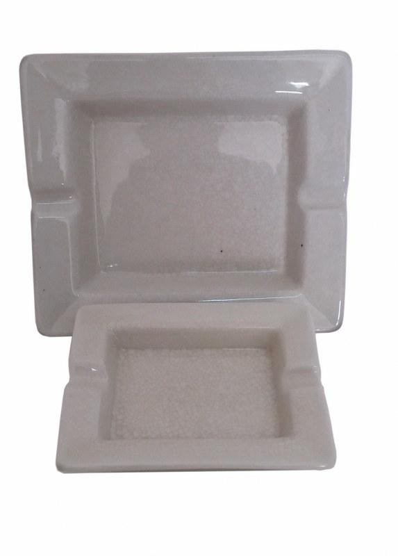 Σταχτοδοχείο Σετ 2τμχ Κεραμικό-Πορσελάνης PAPSHOP 19x17x3,5εκ. CH15 (Υλικό: Κεραμικό, Χρώμα: Λευκό) - PAPADIMITRIOU INTERIOR PAPSHOP - CH15