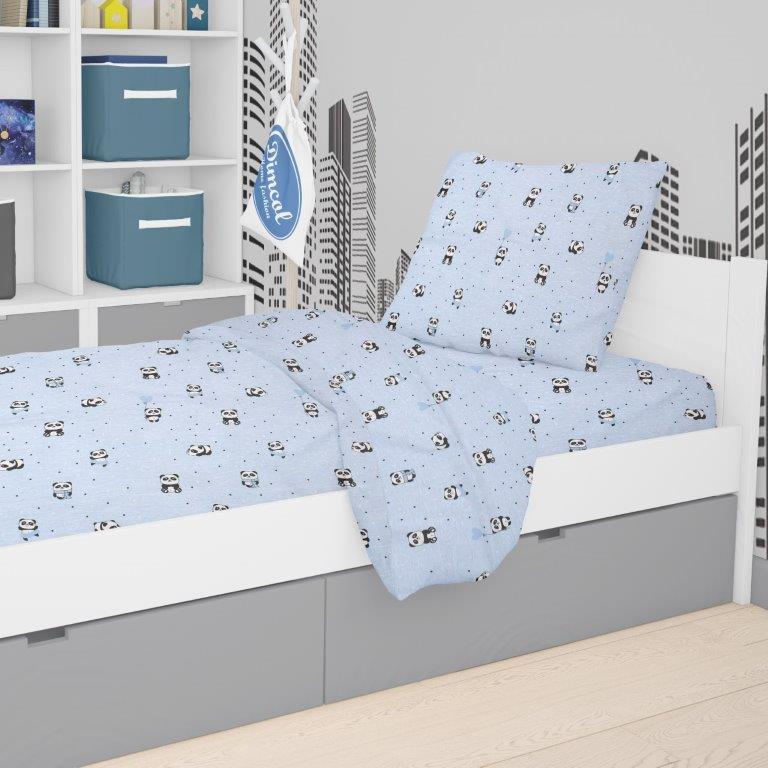 Μαξιλαροθήκη 50×70εκ. Panda 110 Sky Blue Dimcol – DimCol – 1925813115811082