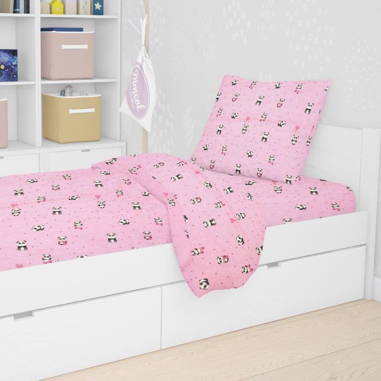 Μαξιλαροθήκη 50×70εκ. Panda 111 Pink Dimcol – DimCol – 1925813115811179